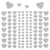 106 Herz Sticker Aufkleber Set mit Glitzer Scrapbooking - silber