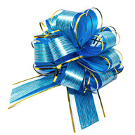 Geschenkschleife Deko Schleife für Geschenke Tüten Zuckertüte Weihnachten Geschenkdeko - dunkelblau