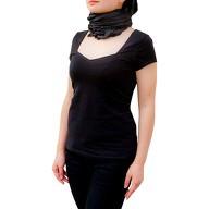 Tuch Schal Chiffon Stola Fashion Outfit Damen Tücher -  schwarz