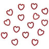 Perlenherzen Herz Konfetti Streudeko Tischdeko Hochzeitsdeko - rot