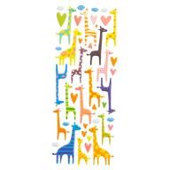 Giraffen 3D Sticker Tier Aufkleber Set für Kinder Doming Vintage Retro Deko Scrapbooking Basteln