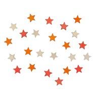 24 Holz Sterne Streudeko Tisch Deko Kinder Geburtstag Party Weihnachten orange rosa weiß