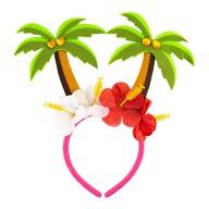 Haarreif mit Palmen und Blüten Haarreifen für Hawaii Party Karneval Fasching Motto Party