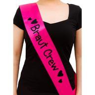 Schärpe Braut Crew JGA Junggesellinnenabschied Hen Party pink