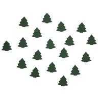 18 Holz Tannen Bäume Holzdeko Weihnachtsdeko Tischdeko Weihnachten - grün
