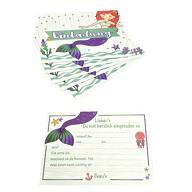 6 Meerjungfrau Einladungskarten Kindergeburtstag Mädchen Meerjungfrauen Party Mermaid Einladungen