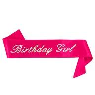 Schärpe Birthday Girl Geburtstag Party Feier Geburtstagsfeier pink