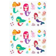 36 Meerjungfrau Sticker Meerjungfrauen Aufkleber mit Unterwasserwelt Motiven zum Basteln Spielen