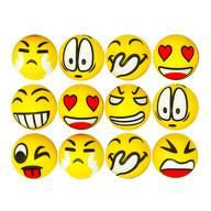 Smiley Grimassen Knautschball Antistressball Softball 12 Stk. Bälle mit lustigen Gesichtern - Mix