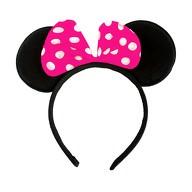 Haarreif Haarreifen Maus Mouse Ohren Schleife Fasching Karneval - pink