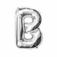 Folien Luftballon Buchstabe B Geburtstag Silber Hochzeit Party Deko Ballon - silber