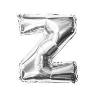 Folien Luftballon Buchstabe Z Geburtstag Silber Hochzeit Party Deko Ballon - silber