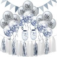 Happy New Year Silvester Neujahr Party Feier Deko Set - silber weiß