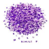 ABC Alphabet Buchstaben Konfetti Streudeko Tisch Deko Schuleinführung Einschulung Party lila rosa