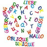 ABC Alphabet Buchstaben Sticker Aufkleber Set zum Basteln Spielen Bekleben von Einladungen - bunt