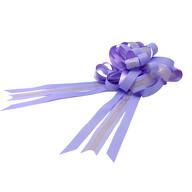 Geschenkschleife mit Geschenkband Aufschrift Love You Deko Schleifen Geschenke Valentinstag - lila