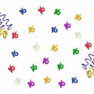 Konfetti 16 Geburtstag Party Jubiläum Streudeko Tisch Deko bunt 14g