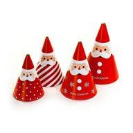 4 Weihnachtsmänner zum Basteln Weihnachts Deko Geschenk Weihnachten