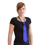 Krawatte Schlips Pailletten Glitzer - blau
