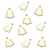 10 Holz Weihnachtsbaum Christbaum Anhänger Christbaumschmuck Holzdeko
