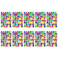 480x Buchstaben Sticker Alphabet ABC Aufkleber für Schuleinführung zum Basteln Scrapbooking - bunt