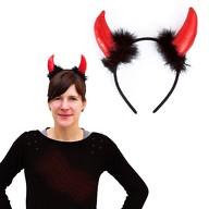 Haarreif mit Hörnern Teufelshörner Fasching Karneval Halloween