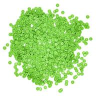1400 Pailletten Konfetti gewölbt 6 mm - grün matt