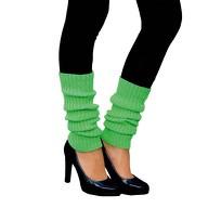 Damen Stulpen Strümpfe 80er Jahre Party Fasching Karneval Aerobic Kostüm Accessoires - neon grün