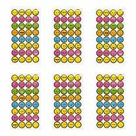 192 Smiley Sticker Stern Smily Aufkleber für Geschenke Deko Karten zum Basteln Spielen - bunt