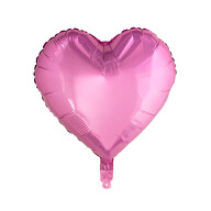 Folien Luftballon Herz Form Kinder Geburtstag Baby Shower Mädchen Party JGA Hochzeit - rosa
