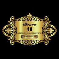 Flaschenetikett Aufkleber Sticker gold elegant Geburtstag - Bravo 40