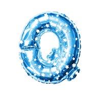 Folien Luftballon Buchstabe Q Kinder Geburtstag Baby Shower Party Deko Ballon - blau