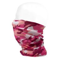 Multifunktionstuch Schlauchtuch Halstuch Loop Mundschutz Outdoor Motorrad Fahrrad - pink Camouflage