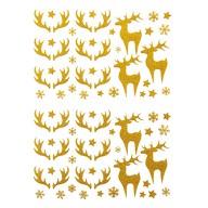78 Weihnachts Sticker Xmas Glitzer Aufkleber für Weinachten Rentier uvm. Weihnachtsdeko - gold