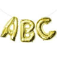 ABC Folienballon Girlande Schuleinführung Einschulung Schulanfang Feier Deko gold