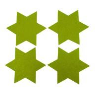 4 Filz Untersetzer Sterne Glasuntersetzer Weihnachtsdeko Ø 15cm - grün