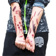Temporäre Tattoos Horror Halloween Klebetattoos Wunden - 40 Motive