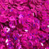 1400 Pailletten Konfetti gewölbt - pink Glitzereffekt