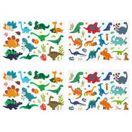108 Temporäre Tattoos Kinder Dinosaurier Tattoo Set Klebetattoos für Kinder zum Spielen Dino Motive