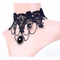 Damen Kette Gothic Collier Spitze - Halskette 2