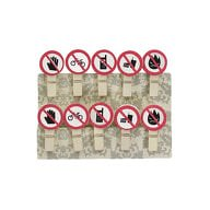 10 Mini Wäscheklammern Holz Miniklammern Deko Klammern- Verbotszeichen