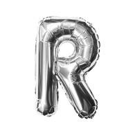 Folien Luftballon Buchstabe R Geburtstag Silber Hochzeit Party Deko Ballon - silber