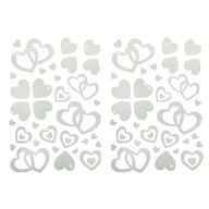 Herz Sticker Set Glitter Glitzernd - weiß