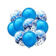 Konfetti Luftballon Set 10 Stk. Geburtstag Hochzeit Baby Shower blau