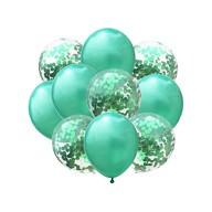 Konfetti Luftballon Set 10 Stk. Geburtstag Hochzeit Party Deko grün