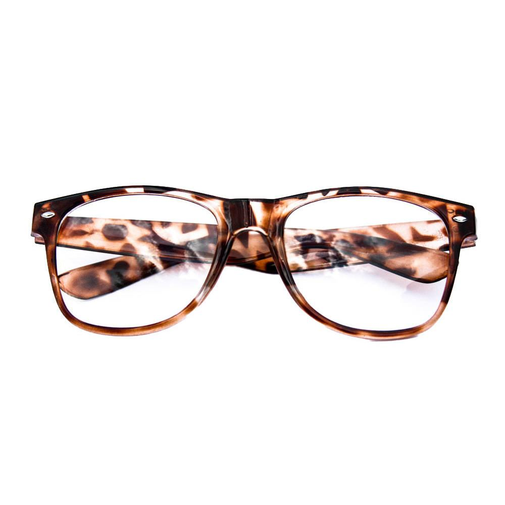 Brille mit Leoparden-Muster jSLO9