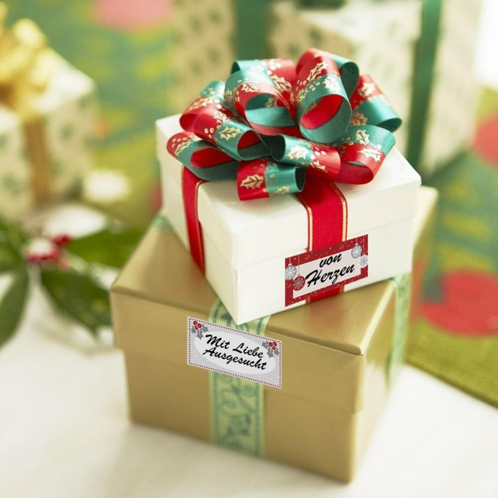 6 etiketten sticker beschreibbare weihnachts aufkleber geschenke deko. Black Bedroom Furniture Sets. Home Design Ideas