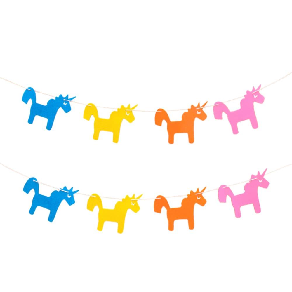 einhorn girlande unicorn 2m kinderzimmer deko kinder. Black Bedroom Furniture Sets. Home Design Ideas