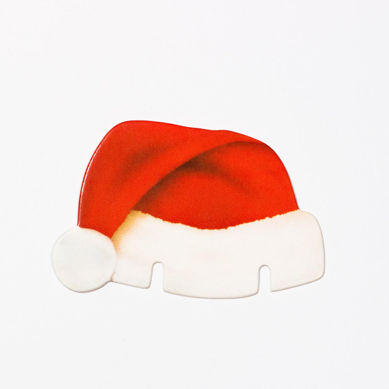 10x weihnachtsmann m tze f r gl ser glas tisch deko advent. Black Bedroom Furniture Sets. Home Design Ideas