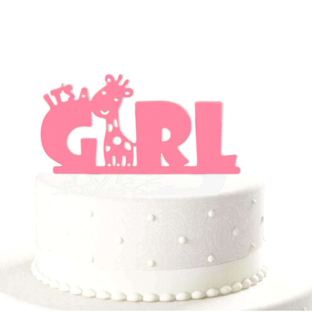 Torten Topper Kuchendeckel Its A Girl Babyshower Baby Party Madchen Pink